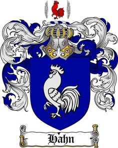 HAHN FAMILY CREST - COAT OF ARMS gifts at www.4crests.com