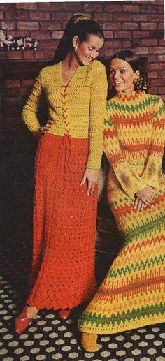 FIRESIDE DRESS on Left  Knit Dress pattern by suerock on Etsy, $3.99