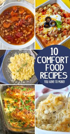 10 AMAZING Comfort Food Recipes You Need to Make! Best Casserole Dish, Casserole Dishes, Casserole Recipes, Chef Recipes, Cooking Recipes, Healthy Recipes, Drink Recipes, Delicious Recipes, Best Casseroles