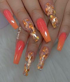 Pretty Nail Designs Ideas for This Year - Nageldesign Cute Acrylic Nail Designs, Fall Nail Art Designs, Pretty Nail Designs, Pretty Nail Art, Best Nail Designs, Coffin Nail Designs, Coffin Nails Designs Summer, Beautiful Nail Art, Beautiful Pictures