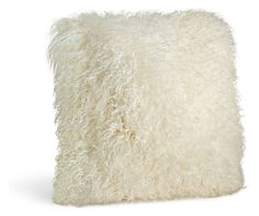 Luxuriously soft and undeniably inviting, this sheepskin pillow adds instant texture to your room. Use it to liven up your living space or give your bedroom a dramatic touch. The cover removes for dry cleaning and features a coordinating linen back and hidden zipper.