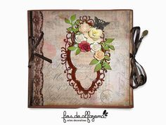 Mini album made with Tim Holtz papers