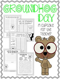 Groundhog Day Crafts, Printables, and Recipes Round-up