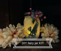 How to make a light up glittery fairy jar lantern. Use a smooth mason jar, glitter, and tea light to make your own light up fairy lantern. Add some floral accents and you have a perfect fairy jar night light for your fairy obsessed little girl. Little Girl Crafts, Crafts For Girls, Diy For Girls, Mason Jar Crafts, Mason Jar Diy, Fairy Silhouette, Fairy Lanterns, How To Make Lanterns, Lantern Making