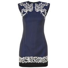 ccb9814285553 Versace Satin-trimmed embroidered pinstriped wool mini dress ( 2