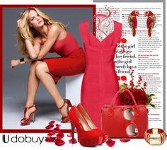 """red"" by biljana-miric-ex-tomic ❤ liked on Polyvore"