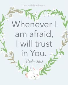 7 Effective Scriptures to Overcome Bad Dreams + Find Peaceful Sleep! Whenever I am afraid, I will trust in You. Psalm FREE Scripture Cards for Kids! Psalms Verses, Psalms Quotes, Bible Verses Quotes, Faith Quotes, Heart Quotes, Deep Quotes, Quotes Quotes, Qoutes, Scriptures For Kids