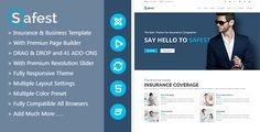 Buy Safest - Insurance Agency & Business Joomla Template by ThemeLan on ThemeForest. If you like our work, don't forget to leave a five rating Safest is a clean and professional Joomla template special. Insurance Agency, Insurance Business, Car Insurance, Web Page Builder, Whole Life Insurance, Joomla Themes, Joomla Templates, Website Themes, Create Website