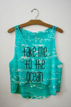 <3 super cute 'take me to the ocean' crop top!!