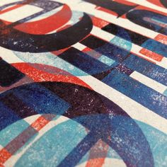 """#letterpress #overprint play"""