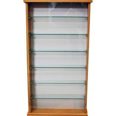 buy oak effect 6 glass shelf display cabinet at your
