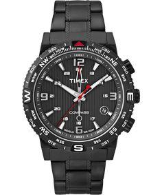 4945b5a761d3 Watches Ideas Timex Intelligent Quartz Mens Black Steel Bracelet Watch  Discovred by   Todd Snyder