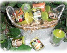Votives Gift Basket -- Melon - Candles