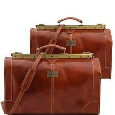 Madrid TL1070 Set da viaggio in pelle - Travel set Gladstone bags - Tuscany Leather