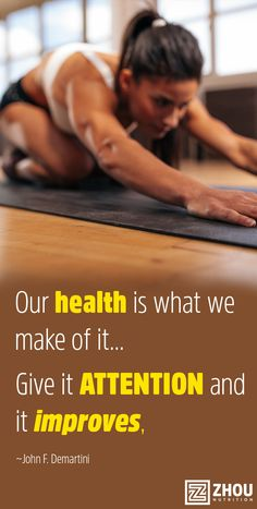 Our health is what we make of it. #healthy