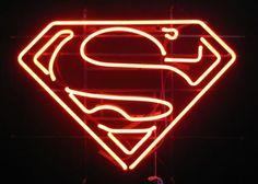 superman logo neon sign