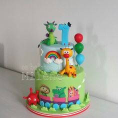 BabyTv cake Baby Birthday Cakes, 2nd Birthday Parties, Pretty Cakes, Beautiful Cakes, Baby Tv Cake, Confirmation Cakes, Friends Cake, Cakes For Boys, Cake Designs