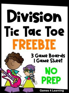 Develop their divion fact fluency while they play Tic Tac Toe! A fun way to master division facts! Download your free games today! Teaching Division, Division Games, Learning Games, Math Games, Math Activities, Grade 3, Fourth Grade, Third Grade, Subtraction Games