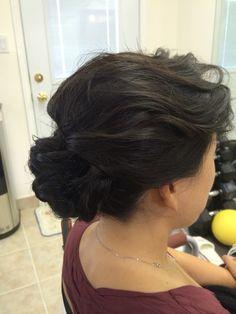 Loose curl updo styling. Bridal hair ideas Loose Curls Updo, Something Beautiful, Hair Designs, Bridal Hair, Hair Ideas, Designers, Wedding, Style, Fashion