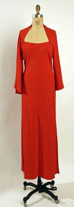 Evening dress Madeleine Vionnet (French, Chilleurs-aux-Bois 1876–1975 Paris)  Date: ca. 1936 Culture: French Medium: silk. Front 1