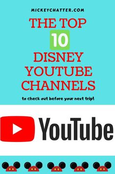 Top 10 best Disney YouTube channels to watch before your next trip! #disneyworld #disneyland #disney #disneytrip #disneyvacation #travelagent #disneytravelagent #disneyplanning