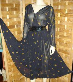 Платье NIPON шифон Винтаж RAR 48 размер