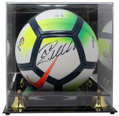 a450b6aecd5 Cristiano Ronaldo Real Madrid Signed Nike Soccer Ball BAS K35305 w  Acrylic  Case