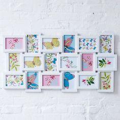 Bilderrahmen Collage Fotogalerie für 18 Bilder Vorderansicht