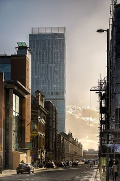 End of The Day - Deansgate, Manchester! Love living in Manchester, such a vibrant and diverse place. This photograph captures it so well! Visit Manchester, Manchester England, Manchester City, Manchester United, Bangkok, Salford, Great Britain, Beautiful World, Liverpool