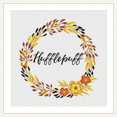 Hogwarts House Floral Crests Cross stitch pattern | Craftsy