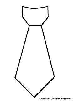 My Creative Way: DIY Tie Shirt. Tie Template Included.