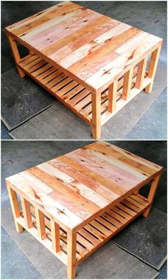 Five Star Pallet Wooden Coffee Table Projects - Page 2 of 3 - Pallet Reuse Wooden Pallet Table, Wooden Pallet Crafts, Wood Pallet Recycling, Recycled Pallets, Wooden Pallets, Wood Table, A Table, Wood Crafts, Pallet Tables