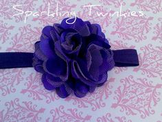 Deep Purple Satin Mesh with tint of white  Oh by SparklingTwinkies, $8.95
