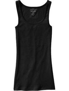 Great staple: Old Navy Women's Rib-Knit Tank. I suggest one in every color of the rainbow.