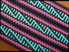 I like this one. It was one of three neckpieces I wove for a fashion design student at Central St. Martin's in London. Click the photo to read the story about it here on my blog: ~Annie MacHale #inkle #inkleweaving