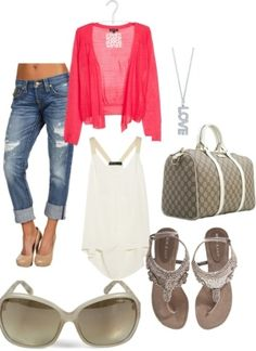 Fun summer afternoon outfit, created by melanie-toledo on Polyvore by shaena.humbird