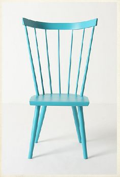 Could track down some wooden thrift store/garage sale chairs and paint in bright colors for possible breakfast nook..