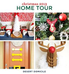 Desert Domicile's Holiday Home Tour. -love her tree