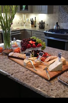 gorgeous cheese and fruit display