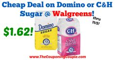 AWESOME Savings for 4-lb bags of Sugar! Cheap Deal on Domino or C&H Sugar @ Walgreens!  Click the link below to get all of the details ► http://www.thecouponingcouple.com/cheap-deal-on-domino-or-ch-sugar-walgreens/ #Coupons #Couponing #CouponCommunity  Visit us at http://www.thecouponingcouple.com for more great posts!