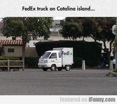Fedex Truck On Catalina Island...