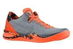 Nike Kobe 8 - Cool Grey - Metallic Silver - Team Orange