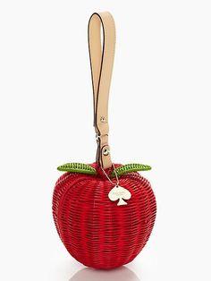pack a picnic apple wristlet   Kate Spade New York