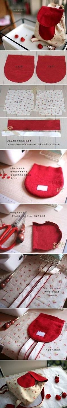 DIY Cute Little Backpack by Nina Maltese