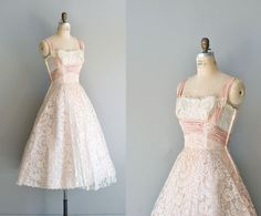 1950s Ceil Chapman dress / 50s dress / lace dress