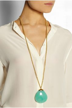 Kenneth Jay Lane Gold-plated resin necklace NET-A-PORTER.COM