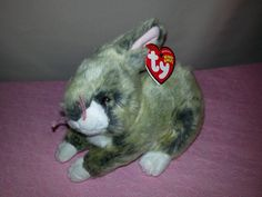 068b47630a0 Ty Beanie Baby Winksy the Gray Easter Bunny