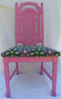 Pink recycled vintage chair