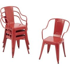 Better Homes and Gardens Camrose Farmhouse Industrial Chairs, 4pk Image 1 of 5