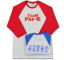 Team Pre-K - How cute would this be with our Preschool Logo and info and ALL the Pre-K graduates names! Maybe even use it as an autograph shirt!